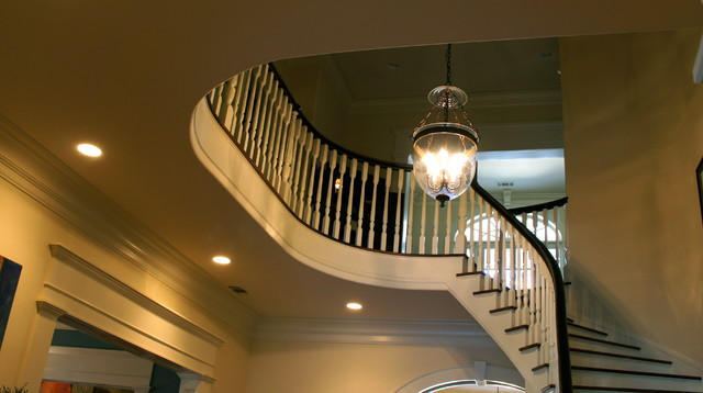Greek Revival traditional-staircase