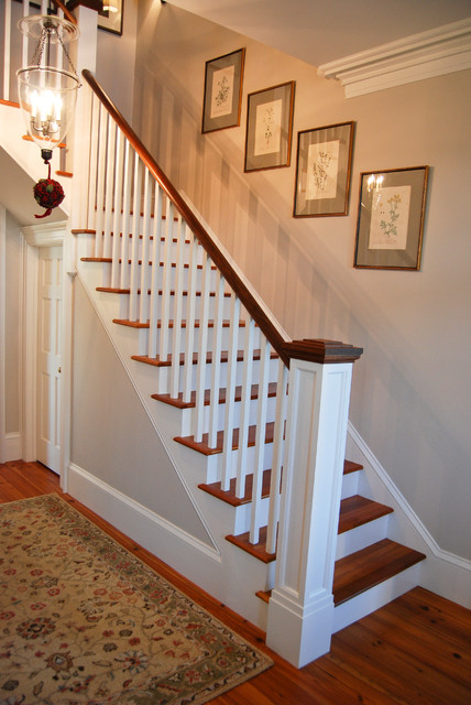 Greek Revival Farm House Farmhouse Staircase Other