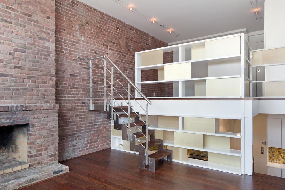 客厅楼梯混搭风格装饰设计图片