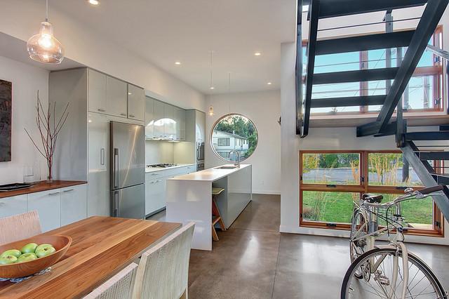 Greenwood House modern-staircase