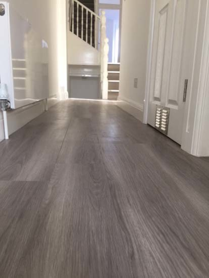 Grey Amtico Flooring To Stairs Contemporary Staircase London