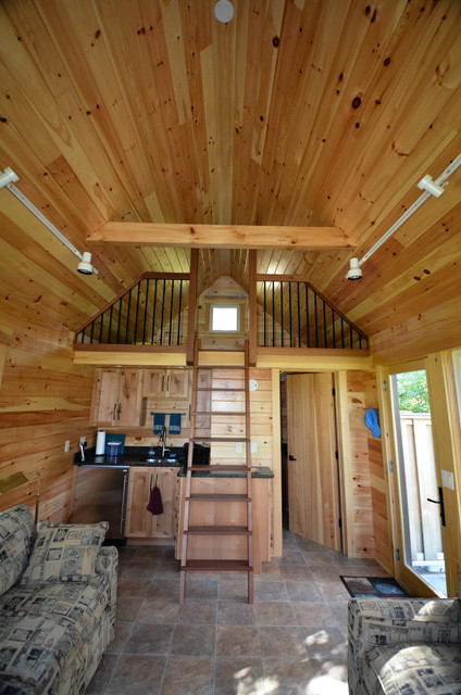 Guest Cabin Renovation Traditional Staircase