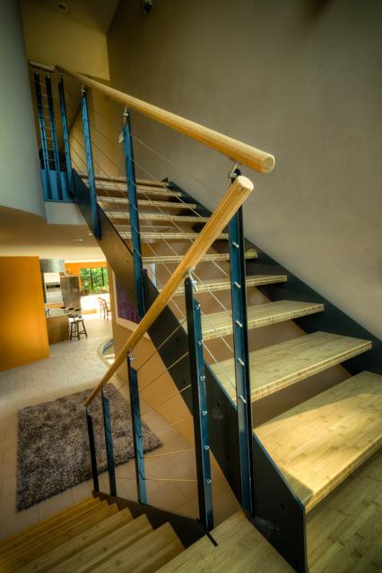 Haller Lake Residence modern-staircase