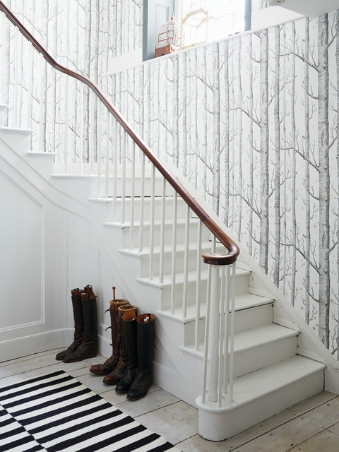 Hallway wallpaper ideas scandinavian staircase - Ideas for covering wallpaper ...