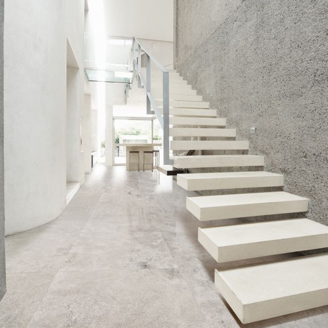 Hallways Flooring Modern Staircase Other Metro By Resido Natural Stone