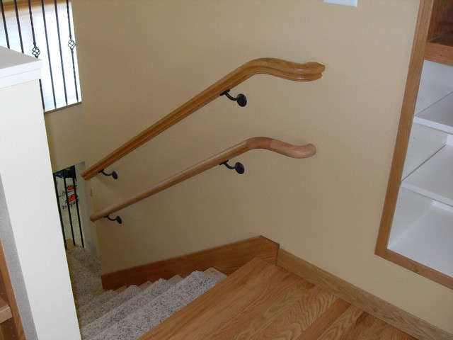 Handrails for little Dudes and Dudetts - Modern - Staircase - portland - by Portland Stair Company