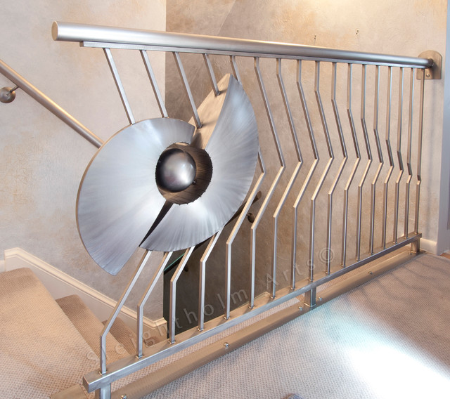 Handrails Eclectic Staircase DC Metro By