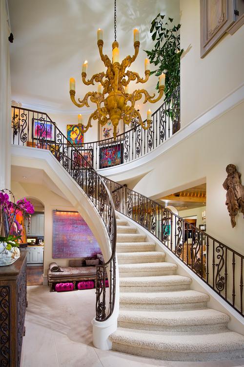 imagen de vestibulo escalera estilo Pop Art