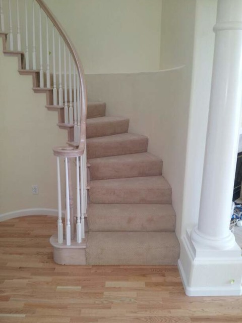 Charming Hardwood Flooring Traditional Staircase