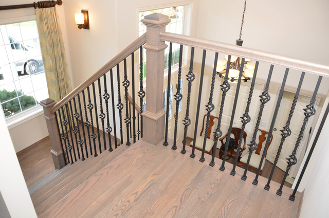 HARDWOOD FLOORING TRADITIONAL RED OAK WITH CLASSIC GREY  : traditional staircase from www.houzz.com size 640 x 424 jpeg 96kB