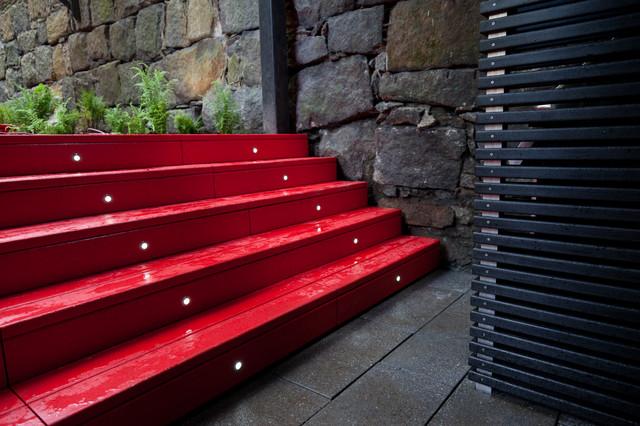 Harriet's Garden contemporary-staircase
