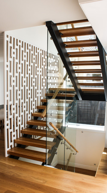 Herne Bay Stairwell Screen Contemporary Staircase