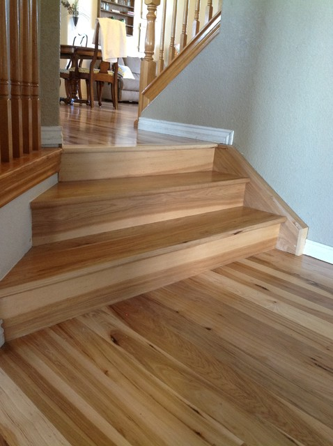 Hickory Flooring Traditional Staircase