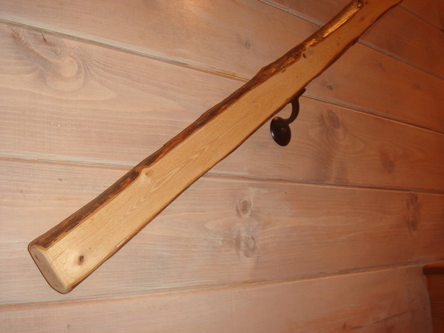 Hickory Hand Rail Rustic Staircase Other by  : rustic staircase from www.houzz.com size 640 x 480 jpeg 58kB