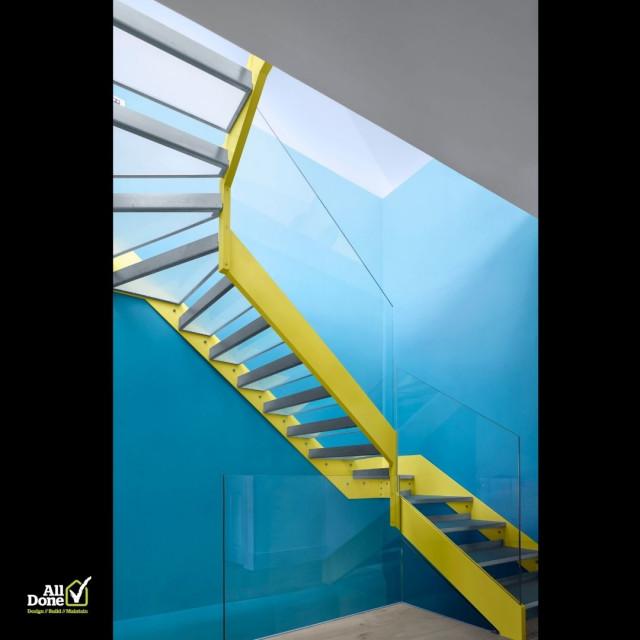 Highbury Barn loft conversion and refurbishment eclectic-staircase