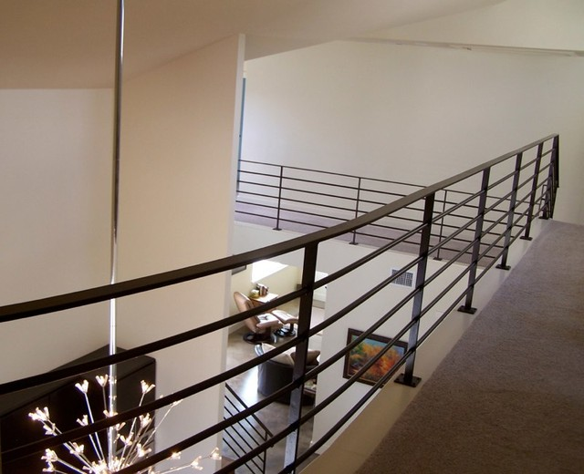 Inspiration for a contemporary staircase remodel in Austin