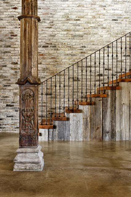 Hill Country Modern eclectic-staircase