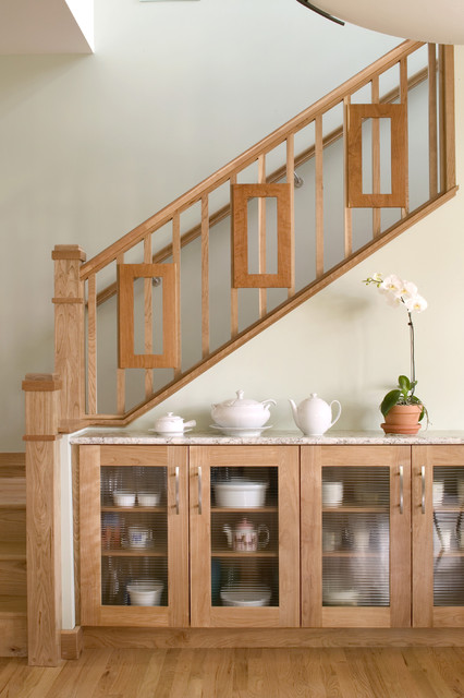 Hillsdale sideboard contemporary staircase denver for Dining room under stairs