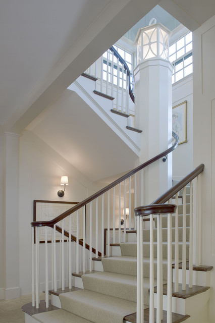 Hillside Farmhouse Traditional Staircase Boston By