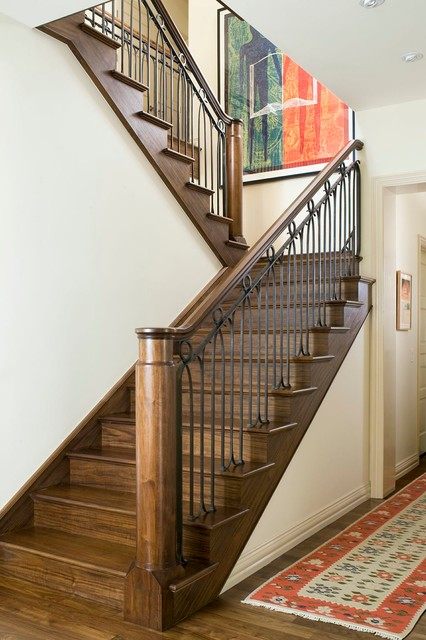 Superieur Hilltop Home Renovation   A Mix Of Old And New Traditional Staircase