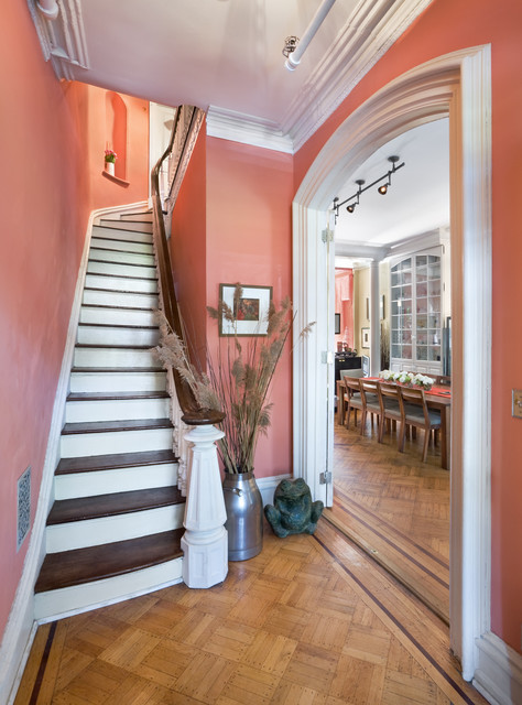 Historic Brownstone Renovation traditional-staircase