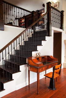 traditional staircase by lake forest interior designers u decorators lisa wolfe design ltd