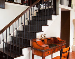 Historic Schoolhouse Loft traditional staircase