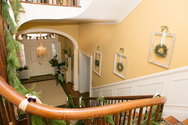 Holiday Decorating At The Tyler Spite House Frederick Md Traditional Staircase Dc Metro