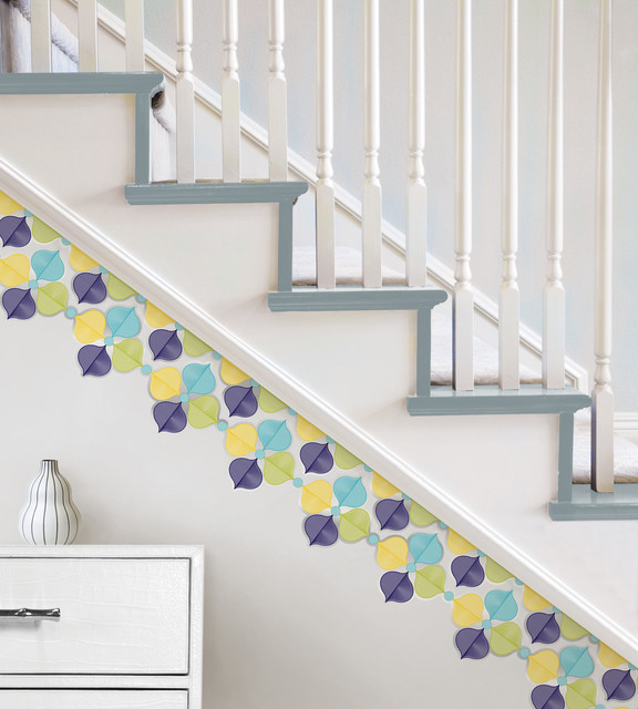 Hollywood Wall Art by Jonathan Adler for WallPops staircase