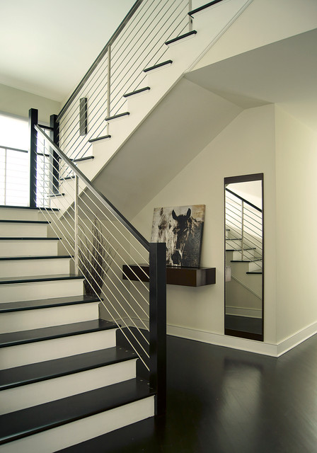 Holmdel NJ Residence - Contemporary - Staircase - New York - by YZDA | Yoshida + Zanon Design Atrium