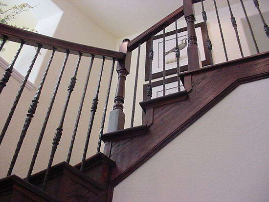 Home stair remodel traditional staircase houston for Stair remodel houston