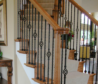 Home Stair Remodel - Traditional - Staircase - Houston - by Cheap Stair Parts