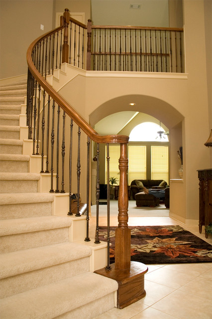 Home stair remodel traditional staircase houston for Cheap stair makeover