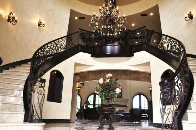 Homes We Have Built Mediterranean Staircase Orange