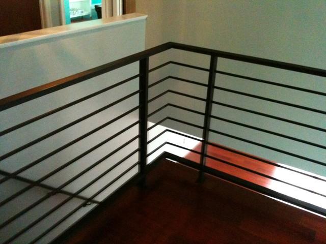 Horizontal railing - Contemporary - Staircase ...