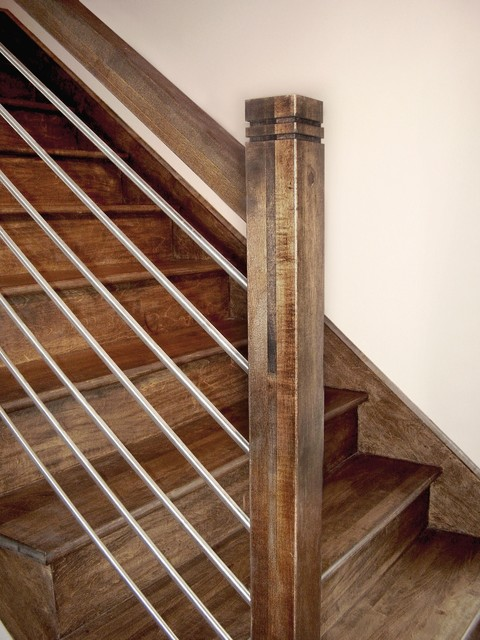 Horizontal Stainless Steel Wood Handrail 2