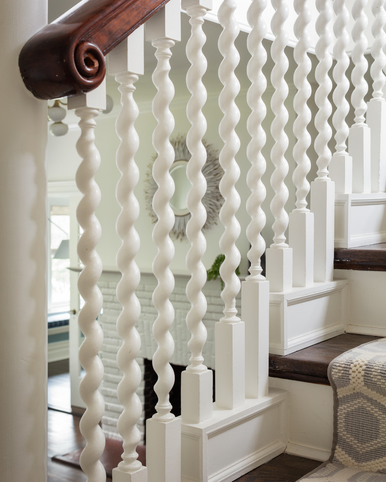 Inspiration for a large contemporary staircase remodel in New York