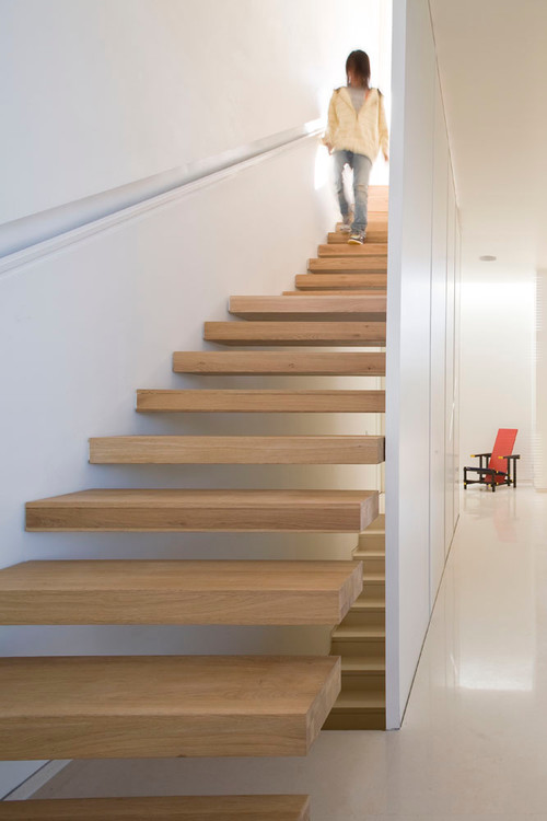 Stair Box In Bedroom: How Are The Bottom Floating Stairs Attached To The Wall