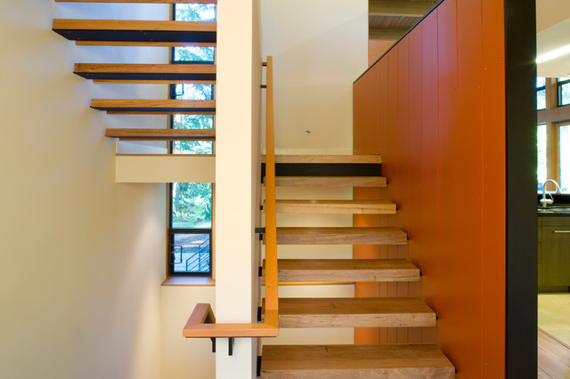 House in the Trees contemporary-staircase