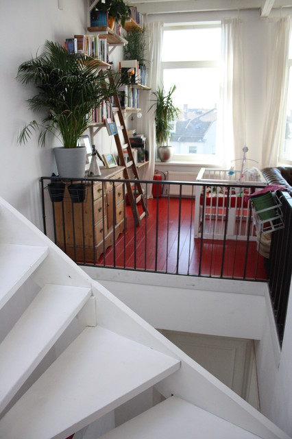 Houzz Tour: A light-filled South Holland eclectic coastal home eclectic-staircase