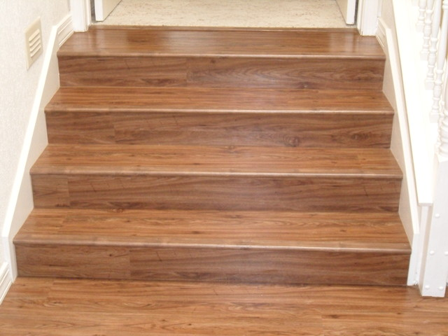 Hybrid Lvt Stairs Traditional Staircase Albuquerque By Floorscapes