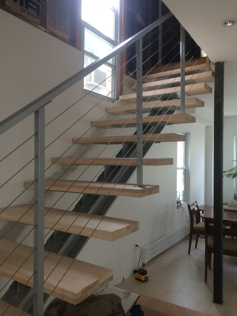 I Beam Staircase Modern Staircase Philadelphia By