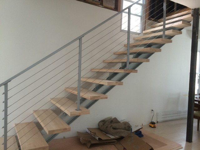 I beam staircase modern staircase philadelphia by for Escaleras ligeras