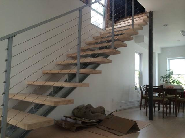 I Beam Staircase Modern Staircase Philadelphia By