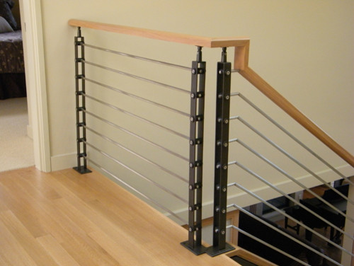 IC Railing - Contemporary - Staircase - seattle - by Issaquah Cedar ...
