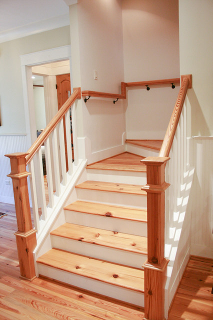 Icf green home craftsman staircase other by bob for Bob chatham house plans