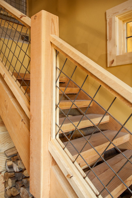 Idaho Barn Home Traditional Staircase Other Metro