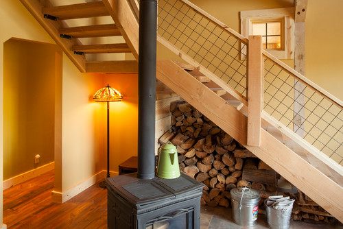 traditional staircase Ideas for lighting a rustic cottage