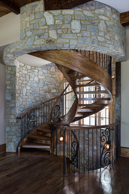 Immaculate Spiral Staircase Rustic Staircase