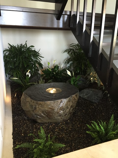 Indoor zen garden contemporary staircase los angeles for Interior zen garden